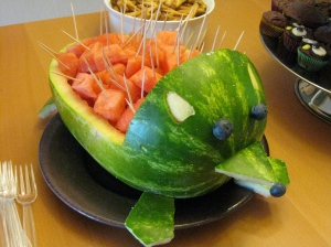 hedgehog watermelon