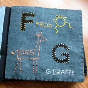 embroidered animal abc felt book alphabet felt book