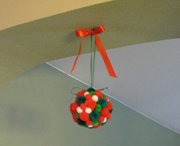 christmas kissing ball  handmade christmas decor