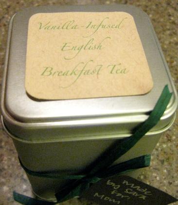 vanilla-infused english breakfast tea