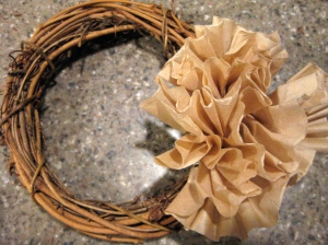 5 minute DIY fall wreath
